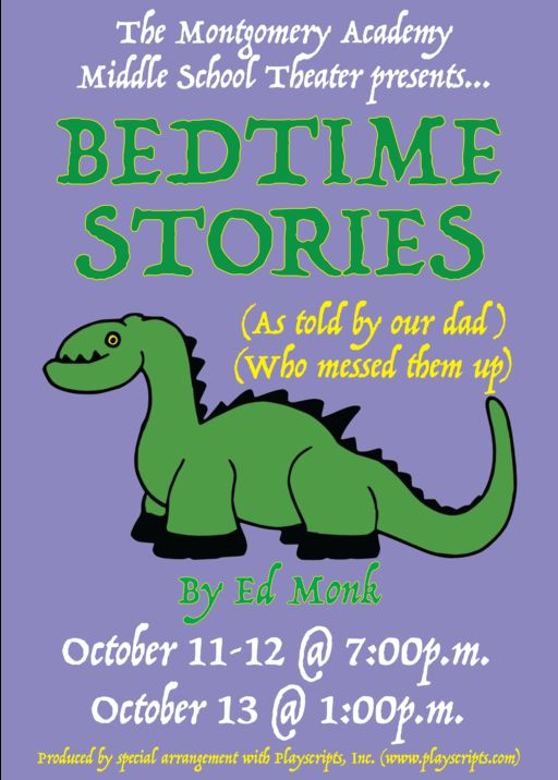 "Middle School Play ""Bedtime Stories (As Told By Our Dad) (Who Messed Them Up)"