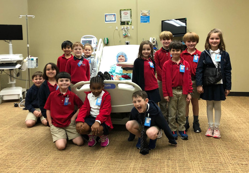 "First Graders Experience ""Let's Pretend Hospital"""