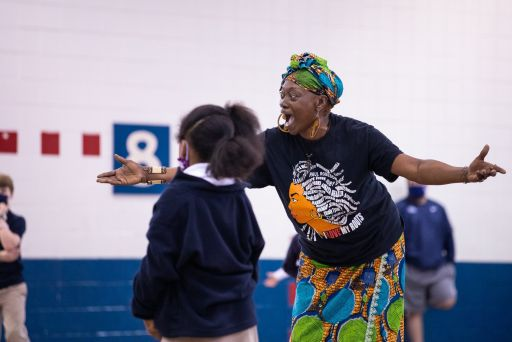 Lower School Students Learn Traditional African Dances